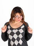 Girls With Glasses Royalty Free Stock Photos