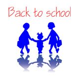 Girls going back to school Royalty Free Stock Photo