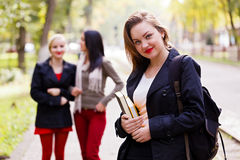 Girls going back to school Royalty Free Stock Image