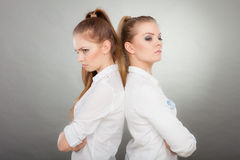 Girls going through conflict in their relationship Stock Photo