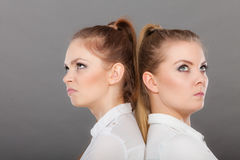 Girls going through conflict in their relationship Stock Image