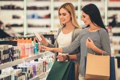 Girls going shopping Stock Photos