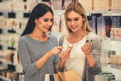 Girls going shopping Royalty Free Stock Photo