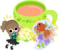 Girls and goldfish bowls Royalty Free Stock Photos