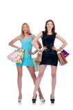Girls after good shopping Royalty Free Stock Images