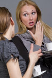 Girls gossip Royalty Free Stock Photography