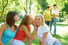 Girls gossiping Stock Photography