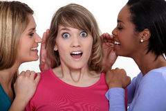 Girls gossiping Royalty Free Stock Photos