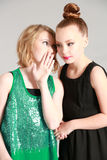 Girls gossiping Royalty Free Stock Image