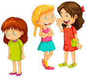 Girls gossipping other friend. Illustration Royalty Free Stock Image