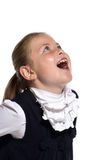 Girls grimace, open mouth Stock Images