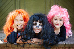 Girls grinning Royalty Free Stock Photography