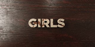 Girls - grungy wooden headline on Maple  - 3D rendered royalty free stock image. This image can be used for an online website banner ad or a print postcard Royalty Free Stock Image