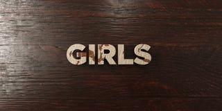 Girls - grungy wooden headline on Maple  - 3D rendered royalty free stock image Royalty Free Stock Image