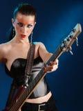 Girls with guitar Stock Photos