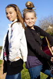 Girls with guitar Stock Image