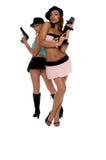 Girls With Guns Royalty Free Stock Image
