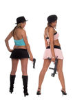 Girls With Guns Royalty Free Stock Photography