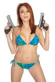 Girls with Guns stock images