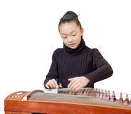 Girls(Guzheng performance) Stock Photography