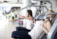 Girls in the gym Royalty Free Stock Photos