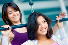 Girls at the gym Stock Photos