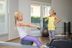 Girls in the gym Royalty Free Stock Images