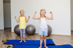 Girls in the gym Stock Images