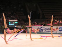 Girls gymnasts Stock Images