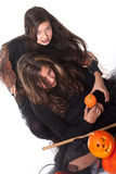 Girls in halloween costume Royalty Free Stock Photos
