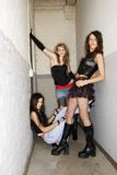 Girls in hallway. Royalty Free Stock Image