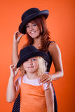 Girls with hat Royalty Free Stock Photography