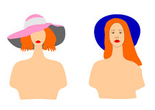 Girls in the hat for further editing Stock Photo