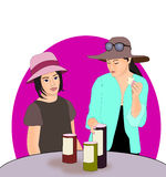 Girls with Hats Stock Photo