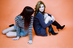 Girls having a chat.  Royalty Free Stock Images