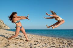 Girls having fun Royalty Free Stock Photos