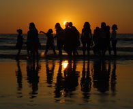 Girls having fun at Juhu beach, Mumbai Royalty Free Stock Images