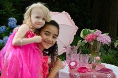 Girls having fun outdoors Stock Image