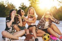 Girls having fun Stock Images