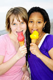 Girls having ice cream Royalty Free Stock Photo