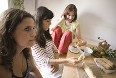 Girls having Lunch Royalty Free Stock Photos