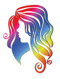 Girls head  vector Stock Photography