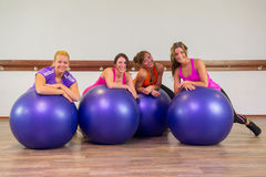 Girls at health club Stock Images