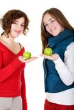 Girls on a healthy diet Royalty Free Stock Photography