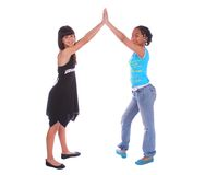 Girls High Five Royalty Free Stock Photos