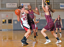 Girls High School Basketball Royalty Free Stock Image