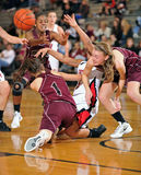 Girls High School Basketball Royalty Free Stock Photography