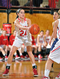 Girls High School Basketball Stock Photography