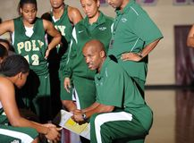 Girls High School Basketball. royalty free stock images