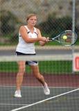 Girls High School Tennis Royalty Free Stock Image